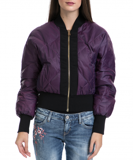 2ecfbbe397 JUICY COUTURE – Γυναικείο μπουφάν IRIDESCENT PUFFER JACKET μωβ