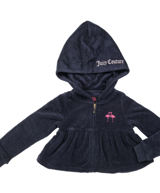 JUICY COUTURE KIDS – Κοριτσιστικη ζακετα JUICY COUTURE MICROTERRY FLAMINGO  KISS μπλε · Κοριτσι 44fc5ca2177
