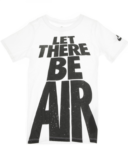 74f96a981384 NIKE – Παιδικο αγοριστικο t-shirt NIKE LET THERE BE AIR λευκο
